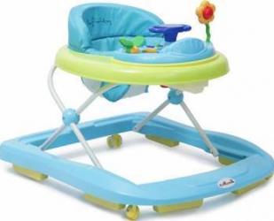 Premergator copii Moni Baby Walker Infinity Albastru Balansoare, premergatoare, centre activi