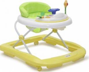Premergator copii Moni Baby Walker Infinity Galben Balansoare, premergatoare, centre activi