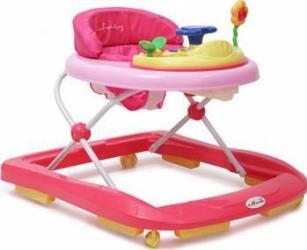 Premergator copii Moni Baby Walker Infinity Roz Balansoare, premergatoare, centre activi