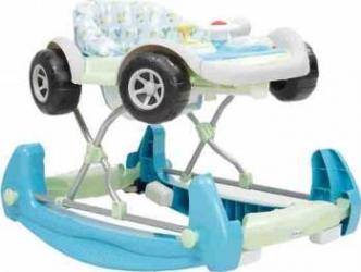 Premergator Copii Si Bebe CANGAROO Car Albastru Balansoare, premergatoare, centre activi