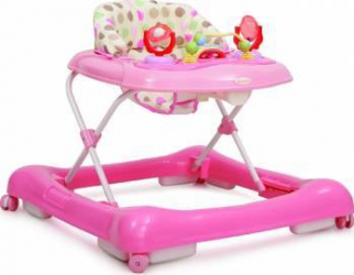 Premergator Copii si Bebe CANGAROO Steps Roz Balansoare, premergatoare, centre activi