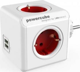 Priza 2 x USB Allocacoc Power Cube Original Red Prize