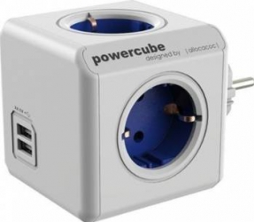 Priza 2 x USB Allocacoc Power Cube Original Blue Prize
