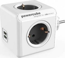 Priza 2xUSB Allocacoc Power Cube Original Grey Prize