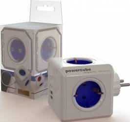 Priza 4 Schuko si 2 porturi USB PowerCube Allocacoc Prize