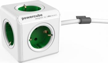 Priza Allocacoc Power Cube Extended Green