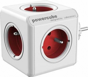 Priza Allocacoc Power Cube Original Red Prize