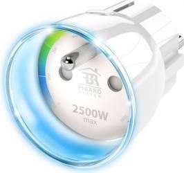 Priza inteligenta Fibaro Wall Plug tip EU Kit Smart Home si senzori