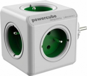 Priza Allocacoc Power Cube Original Green Prize