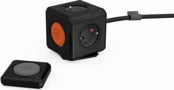Prelungitor PowerCube Allocacoc 1512BK telecomanda Negru Prize