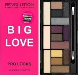 Paleta de culori Makeup Revolution London Pro Looks - Big Love Make-up ochi