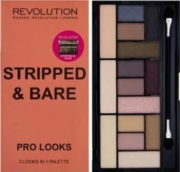 Paleta de culori Makeup Revolution London Pro Looks - Stripped and Bare Make-up ochi