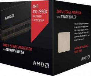 Procesor AMD A10 7890k Black Edition 4.1GHz FM2+ Wraith cooler Radeon R7 Box Procesoare