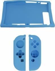 Protectie Dobe Silicon antisoc pentru Nintendo Switch si Joy-Con Albastru Accesorii
