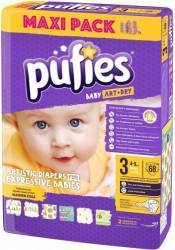Pufies Baby Art midi Nr.3 68buc Scutece si servetele
