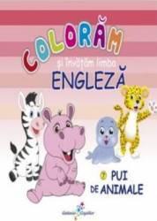 Pui de animale - Coloram si invatam limba engleza