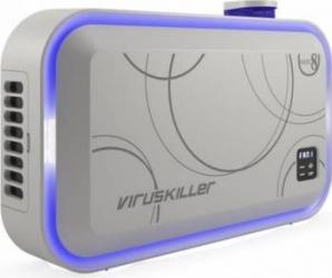 Purificator + Sterilizator de aer Radic8 VK Blue 95W filtru Hepa reactor cu 8 lampi UV Alb Purificatoare aer