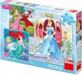 Puzzle 3 in 1 - Printese vesele 55 piese