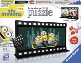 PUZZLE 3D MINIONS DIAFILM 108 PIESE