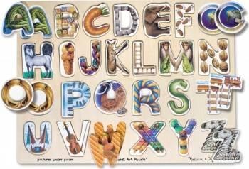 Puzzle Alfabet Art Melissa and Doug Puzzle si Lego