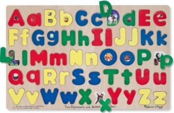 Puzzle Alfabet litere mari si mici Melissa and Doug Puzzle si Lego