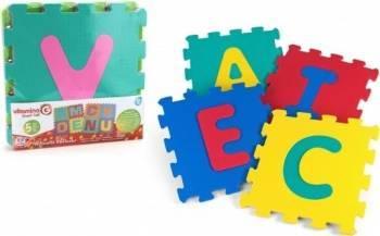 Puzzle burete pentru copii Globo Vitamina G Litere 5 bucati Puzzle
