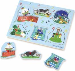 Puzzle cu sunete Cantecele copilariei 2 - Melissa and Doug Puzzle si Lego