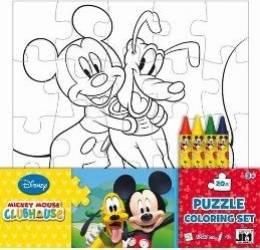 Puzzle de colorat Mickey Club