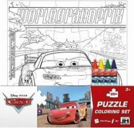 Puzzle de colorat Set Cars