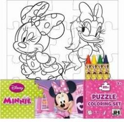 Puzzle de colorat Set Minnie