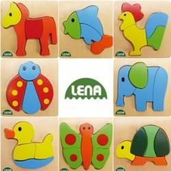 Puzzle lemn Animale Jucarii Interactive