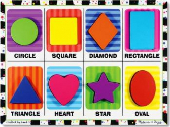 Puzzle lemn in relief Forme geometrice Melissa and Doug Puzzle