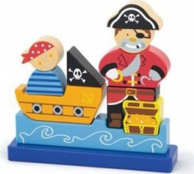 Puzzle New Classic Toys Magnetic 3D Pirate Puzzle si Lego
