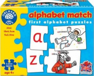Puzzle Orchard Toys Alphabet Match Puzzle si Lego