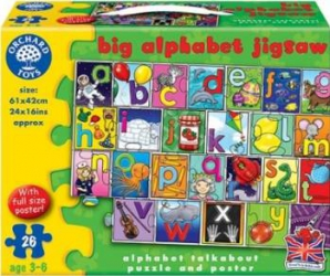 Puzzle Orchard Toys Big Alphabet Jigsaw Puzzle si Lego