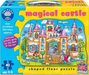 Puzzle Orchard Toys Colored Magical Castle Puzzle si Lego