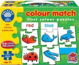 Puzzle Orchard Toys Colour Match Puzzle si Lego