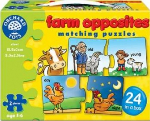 Puzzle Orchard Toys Farm Opposites Puzzle si Lego