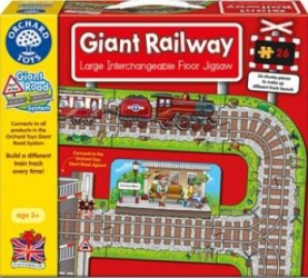 Puzzle Orchard Toys Giant Railway Puzzle si Lego