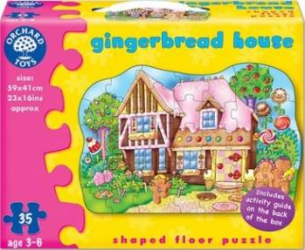 Puzzle Orchard Toys Gingerbread House Puzzle si Lego