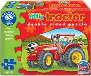 Puzzle Orchard Toys Little Tractor Puzzle si Lego