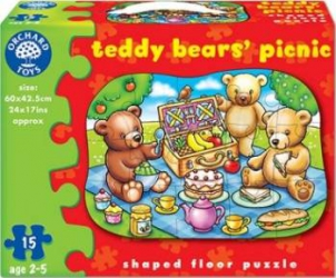 Puzzle Orchard Toys Teddy Bears Picnic Puzzle si Lego