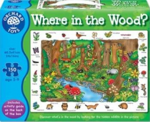 Puzzle Orchard Toys Where In The Woods Puzzle si Lego