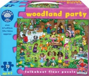 Puzzle Orchard Toys Woodland Party Puzzle si Lego