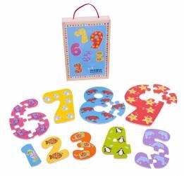 Puzzle-ul cifrelor 1 - 9 Jucarii si Jocuri