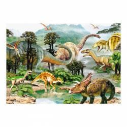 Puzzle - Era dinozaurilor 100 piese Jucarii si Jocuri