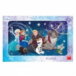 Puzzle - Frozen Snowflakes 15 piese Jucarii si Jocuri