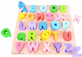 Puzzle colorat - alfabet Jucarii si Jocuri