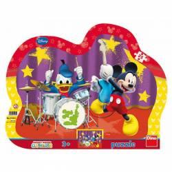 Puzzle cu rama-Formatia lui Mickey Mouse 25 de piese Jucarii si Jocuri