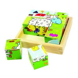 Puzzle cubic - animale domestice Jucarii si Jocuri
